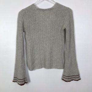 Free People Sweaters - Free People NWT XS Vneck stripe sleeve sweater